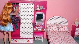 Como fazer guarda-roupa com penteadeira para bonecas Barbie e outras - miniatura