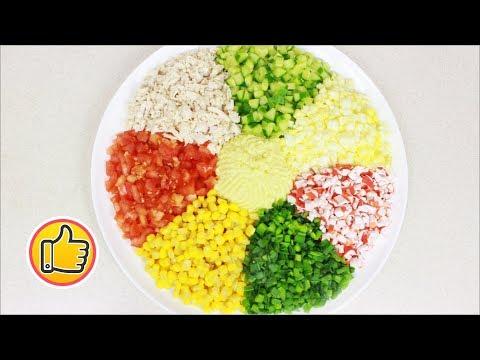 "Салат ""Цветик-Семицветик"" с Курицей на Пасхальный Стол | Salad with Chicken"