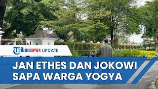 Lucunya Jan Ethes Sapa Warga dari Balik Pintu saat Olahraga Bareng Jokowi di Istana Yogya