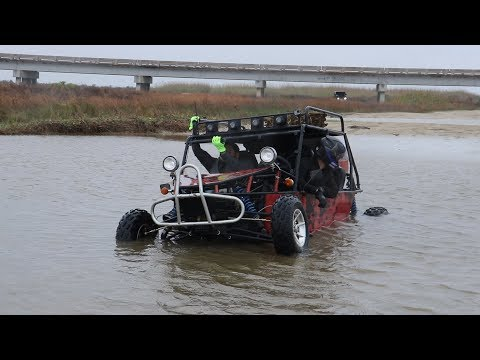 Dune Buggy Hits The BEACH!! (and gets STUCK)