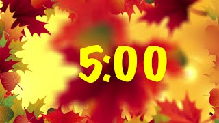 5 Minute Fall Timer with Music | Autumn 5 Minute Timer with Music | Soothing Lovers