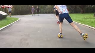 CN Skater.Outdoor quad roller skating.Street roller skating.Quad speed skating practice.