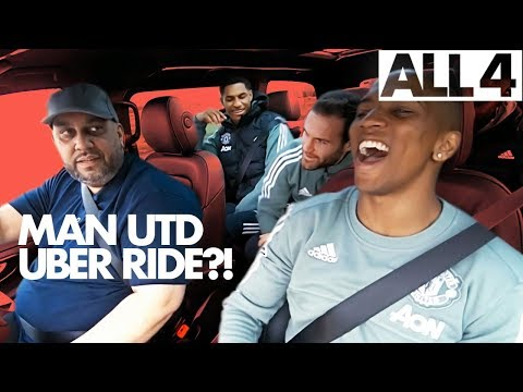 Manchester United Players Ashley Young, Marcus Rashford & More Chatting In Uber | Where To, Britain?