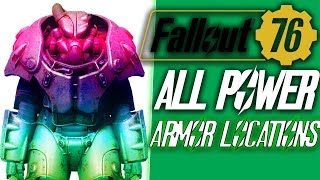 Fallout 76 ALL POWER ARMOR LOCATIONS | fallout 76 all low level power armor locations