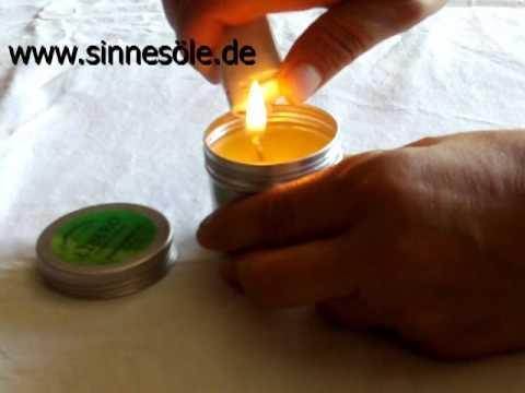 Massagekerze - So gehts