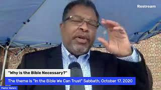"""Why is the Bible Necessary?"" Sabbath, October 17, 2020"