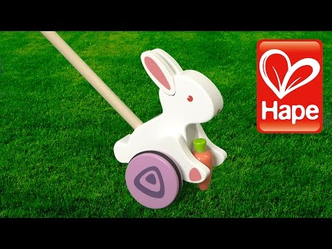 Bunny Wooden Push Toy from Hape