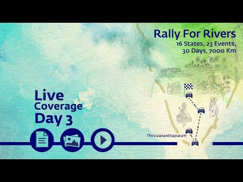 Event Rally for Rivers at Thiruvananthapuram