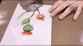 Alcohol Ink Painting With Sharen AK Harris - Creativation 2018