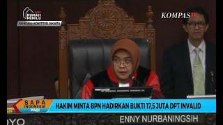 Hakim Minta BPN Prabowo-Sandi Hadirkan Bukti 17,5 Juta DPT Invalid