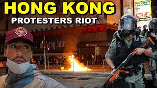 Riot Breaks Out in HONG KONG during protest | Trapped Inside the Madness (Mong Kok, Hong Kong)