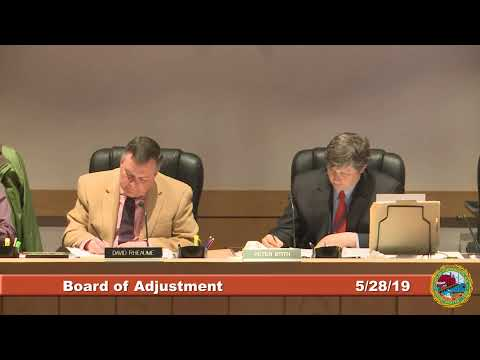 Board of Adjustment 5.28.2019