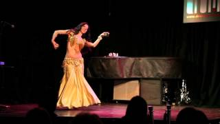 Mini Show with Candle Tray, Baladi, and Drum Solo ~ at Drom NYC ~ Sira Belly dancer NYC