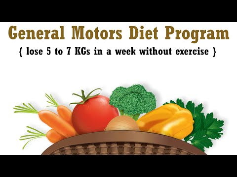 GM Diet Menu: Tips to Lose Weight Fast in a Week