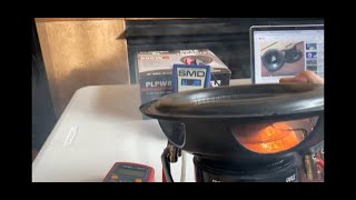 PYLE SUBWOOFER PLPW8D RATED 800W SMD AMM-1 DYNO METER TRUE MAXIMUM POWER TEST! LOTS OF SMOKE!