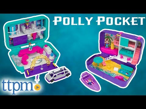Polly Pocket Dance Par-taay Case and Beach Vibes Backpack | Mattel Toys