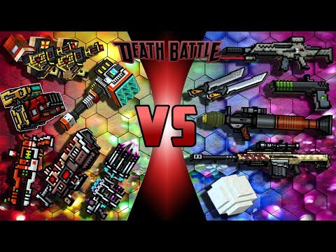 Cyber Weapons VS Realistic Weapons - Pixel Gun 3D