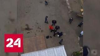 Мигранты устроили стычку с полицейским на рынке в Казани - Россия 24