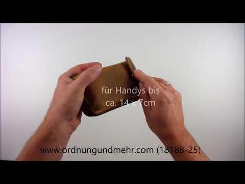 Greenburry Gürteltasche mit Handyfach Vintage antik braun 1818B-25