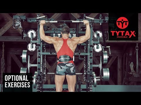 TYTAX® T1-X (Opt. CB) | Standing Cable Bar Press Behind The Neck