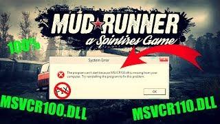 Spintires: MudRunner - MSVCR110 dll Hatası 100% Çözüm (MSVCR100 dll, MSVCR120 dll)