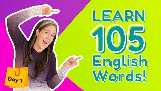 LEARN 105 ENGLISH VOCABULARY WORDS   DAY 1