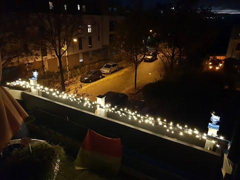 LED Lichterkette für innen und außen, 200 LEDs, warmweiß