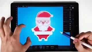 🎅 Merry Christmas - Icon Design Using Affinity Design IPAD Pro