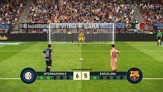 INTER vs FC BARCELONA   Penalty Shootout   PES 2019 Gameplay PC