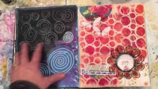 Altered Book Art Journal Flip Through