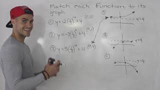 MCR3U - Match Graph To Exponential Function - Grade 11 Functions