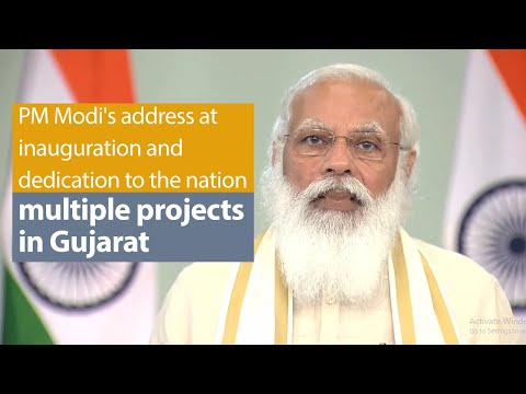 PM's address at inauguration and dedication to the nation multiple projects in Gujarat