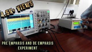 Pre emphasis and De emphasis experiment - analog communication lab - tutorial by Mr.Shashi