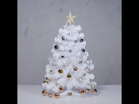 Matte white 2ft artificial Christmas tree