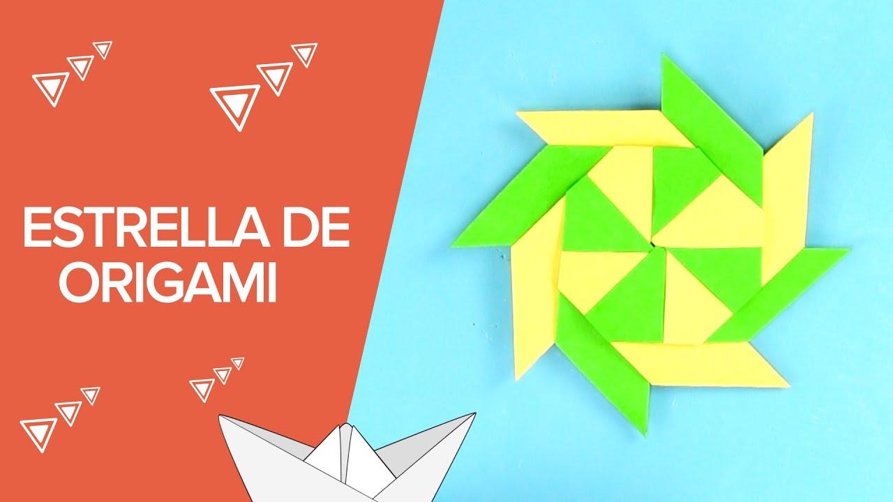 Cómo hacer una estrella modular de origami | Papiroflexia para niños