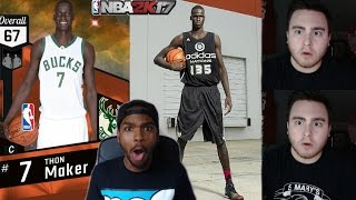 Thon Maker @LosPollosTv Challenge! LeBron CHOKES?! | NBA 2K17 MyTeam Online Gameplay | HEADLINES