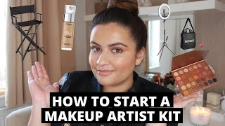 How To Start A Professional Makeup Artist Kit With ONLY Affordable Products |Makeup,Lighting & Equip