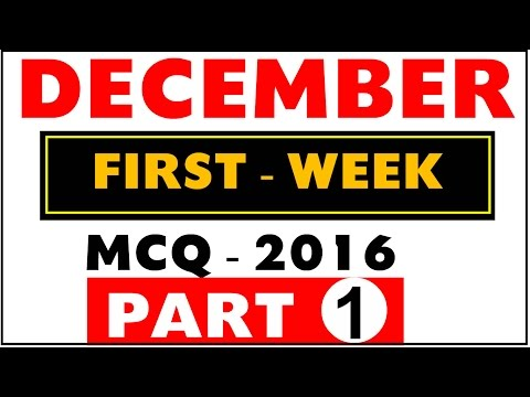 (Hindi) December 2016 1st Week Part -1 Current Affairs MCQ for (BANK,SSC,RAILWAY,other Govt Exams)