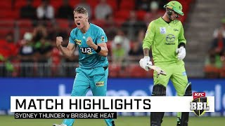 Englishman Tom Banton whacked the second fastest half-century in BBL history as Brisbane Heat toppled Sydney Thunder in a rain-affected match