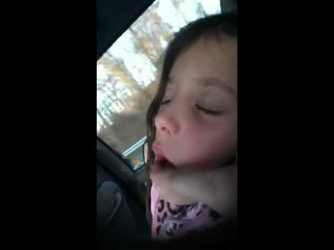 Sleeping little girl talking in sleep!