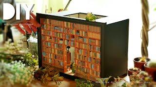 DIY☺︎ 100均のフォトフレームに隠し扉のあるドールハウスを作ってみた!Miniature Dollhouse With Hidden Door!