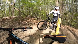 Shredding the trails with Hu & Won