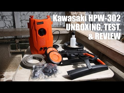 Kawasaki HPW-302 Pressure Washer Unboxing, Test and Review