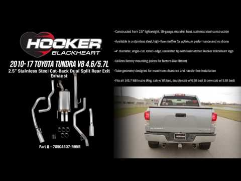 2010-17 Toyota Tundra V8 4.6/5.7L Cat-Back Dual Split Rear Exit Exhaust