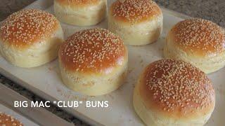 "Homemade Hamburger Buns - Classic & Big Mac ""Club"" | Straight Dough Method"