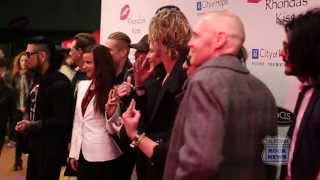 DAVE NAVARRO DUFF McKAGAN DAVE KUSHNER RHONDA'S KISS RED CARPET interview by Alex Kluft