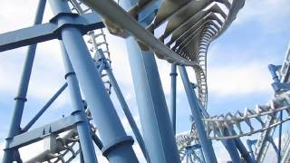 Blue Tornado Front Seat On-ride HD POV Gardaland, Italy