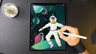 Astronaut 💫 iPad Pro Art