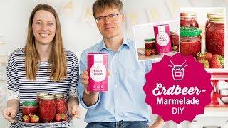 Erdbeer-Marmelade ohne Zucker selber machen (vegan, Gelierxucker) &  Wir lüften ein Geheimnis!