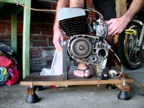 Motor de rx 125 na bancada